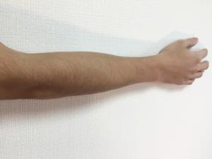 右腕 伸ばしている状態
