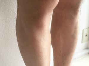 パナソニック ボディシェーバー 剃った後 右足