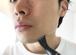 髭 デザイン 1日目 トリマー