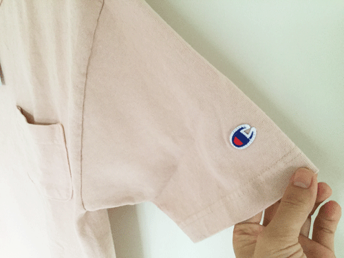 チャンピオン ポケT 袖