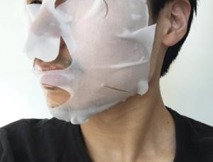 バルクオム フェイスマスク 付けてみた